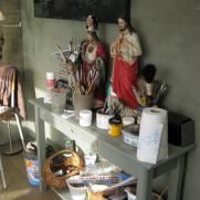 in het atelier
