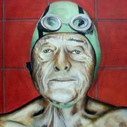Swimming old man