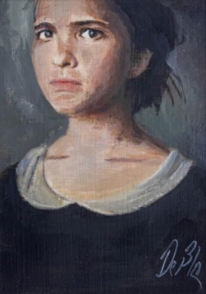 Meisje in het zwart